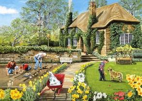 Spring Gardening Charles Wysocki Jigsaw Puzzle