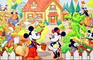 Mikey and Minnie Spring Garden