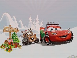 Cars Christmas Time Puzzle