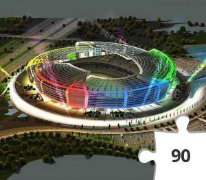 Desenhos de Euro 2020: Baku Olympic Stadium, Azerbaijan para colorir