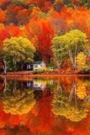 Desenhos de Reflection Fall on Lake Jigsaw Puzzle para colorir