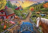 Farm Sunset Charles Wysocki Jigsaw Puzzle