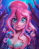 Desenhos de Hair Squid Jigsaw Puzzle para colorir