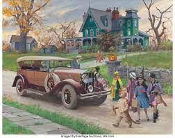 Desenhos de Halloween – Harry Anderson Vintage Jigsaw para colorir