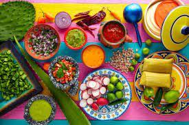 Desenhos de Mexican Cuisine Jigsaw Puzzle para colorir