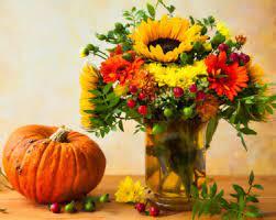 Desenhos de Pumpkin and Flowers Jigsaw Puzzle para colorir