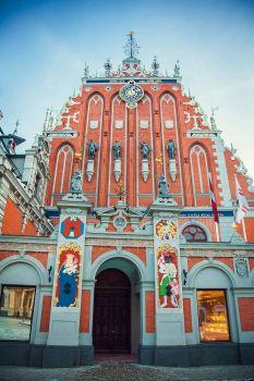 Desenhos de Latvia Church Jigsaw Puzzle para colorir