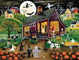 Desenhos de Trick or Treat Halloween Jigsaw Puzzle para colorir