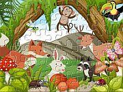 Desenhos de Animals And Plants Jigsaw para colorir