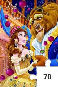 Desenhos de Belle And The Beast Jigsaw para colorir