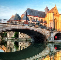 Desenhos de Ghent Bridge para colorir