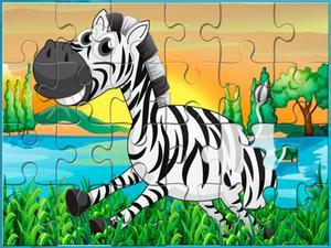 Desenhos de Happy Animals Jigsaw para colorir