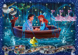 Desenhos de Little Mermaid Jigsaw Puzzle Collection para colorir